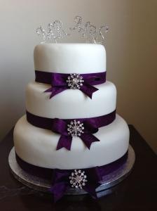 Purple Mr & Mrs